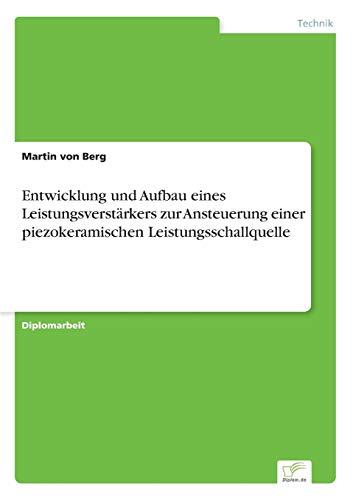 9783838641874: Entwicklung und Aufbau eines Leistungsverstärkers zur Ansteuerung einer piezokeramischen Leistungsschallquelle (German Edition)