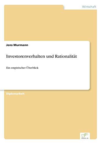 9783838648163: Investorenverhalten und Rationalität: Ein empirischer Überblick (German Edition)