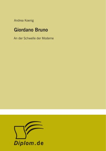 9783838653365: Giordano Bruno: An der Schwelle der Moderne (German Edition)