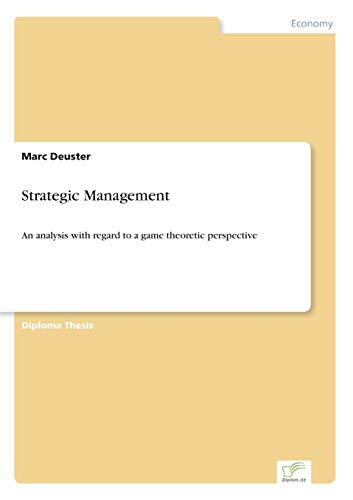 Strategic Management: Marc Deuster