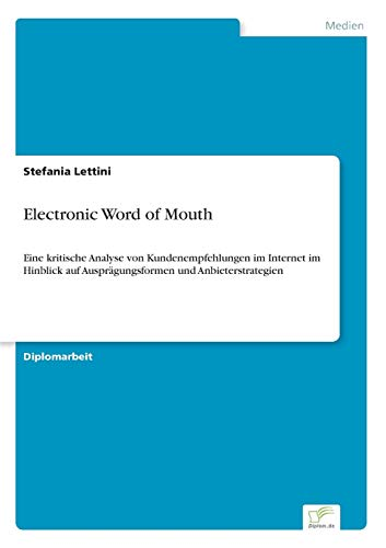 9783838653785: Electronic Word of Mouth