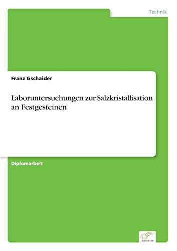 9783838661131: Laboruntersuchungen zur Salzkristallisation an Festgesteinen (German Edition)
