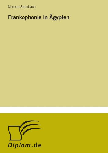 9783838668109: Frankophonie in �gypten