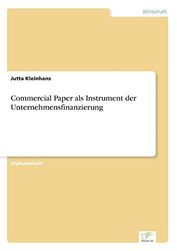9783838676814: Commercial Paper als Instrument der Unternehmensfinanzierung (German Edition)