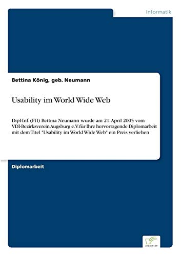 Usability Im World Wide Web: Geb. Neumann Bettina K� nig