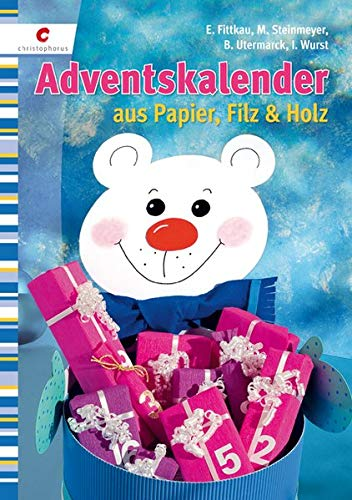 9783838831886: Adventskalender aus Papier, Filz & Holz