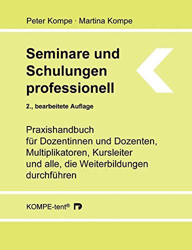 9783839118092: Seminare und Schulungen professionell