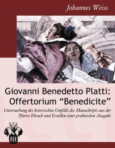 9783839137079: Giovanni Benedetto Platti: Offertorium