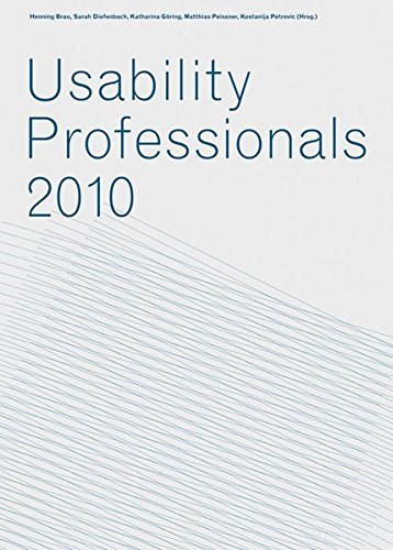 9783839601679: Usability Professionals 2010: Jahresband 2010 der Workshops der German Usability Professionals' Association e.V