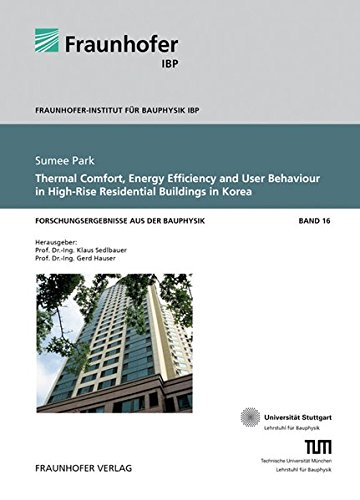 9783839606179: Thermal Comfort, Energy Efficiency and User Behaviour in High-Rise Residential Buildings in Korea. (Forschungsergebnisse aus der Bauphysik)