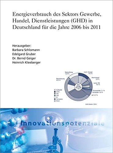 Energieverbrauch des Sektors Gewerbe, Handel, Dienstleistungen (GHD) in Deutschland für die ...