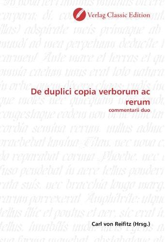 9783839709061: De duplici copia verborum ac rerum: commentarii duo (German Edition)