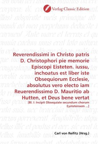 Reverendissimi in Christo patris D. Christophori pie