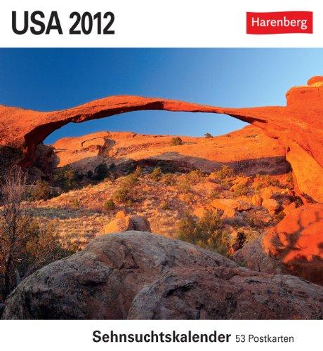 9783840002632: USA 2012: Sehnsuchts-Kalender. 53 heraustrennbare Farbpostkarten