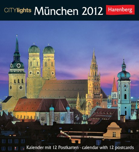 9783840003639: CITYlights München Postkartenkalender 2012