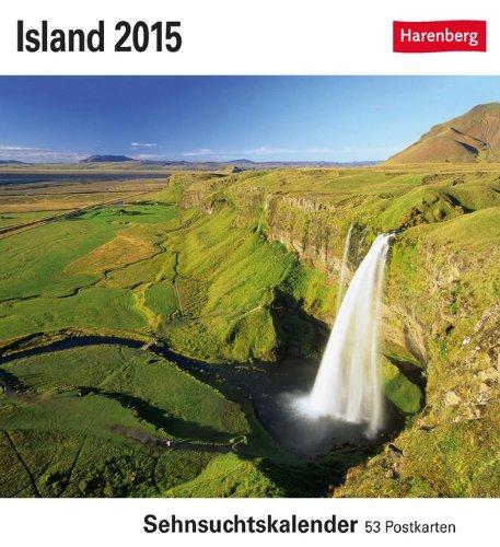 9783840009341: Island 2015: Sehnsuchtskalender, 53 Postkarten