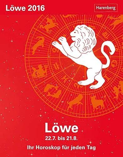 9783840011726: Sternzeichenkalender Löwe 2016