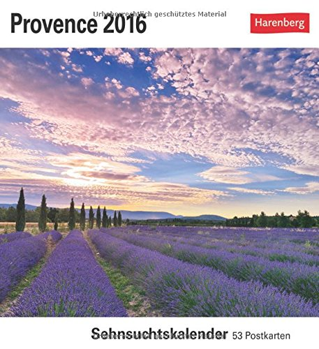 9783840012082: Provence 2016: Sehnsuchtskalender, 53 Postkarten