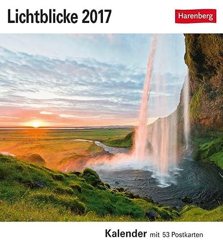 9783840013959: Lichtblicke 2017: Sehnsuchtskalender mit 53 Postkarten