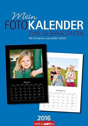 9783840065743: Fotokalender zum Selbergestalten 2016. Mit schwarzen und weißen Seiten: Basteln - Kleben - Malen - Zeichnen