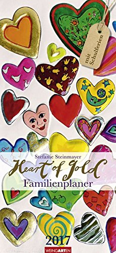 9783840069123: Familienplaner Heart of Gold 2017