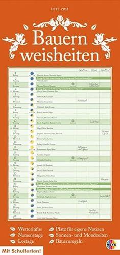 9783840103582: Bauernweisheiten Kalender 2011