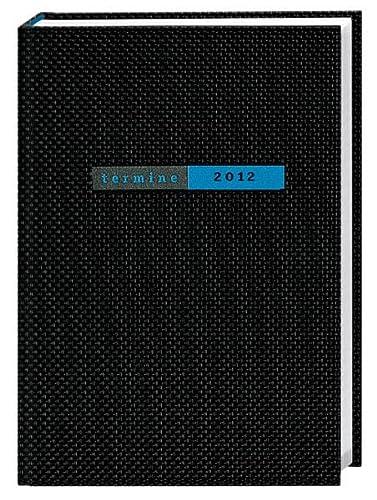 9783840106415: Termine A5 2012. Struktur schwarz