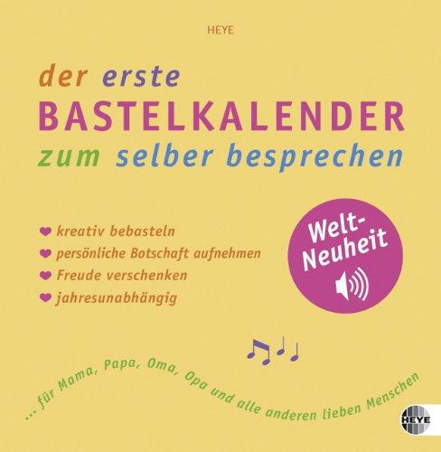 9783840113048: Bastelkalender mit Soundchip gelb