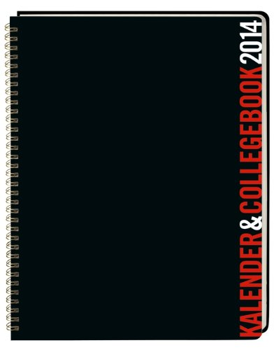 9783840124662: Kalender und Collegebook rot/schwarz 2014 A4