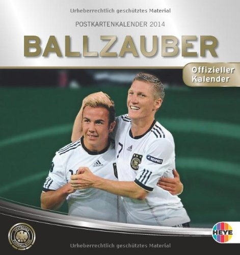 9783840124686: Ballzauber DFB Postkartenkalender 2014