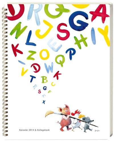 9783840124860: Helme Heine Kalender & Collegebook 2014 A5: Wochenkalender mit 232 Notizseiten, Lineal und vielen Infos