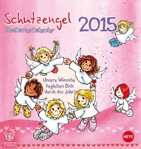9783840131714: Schutzengel 2015 Postkartenkalender