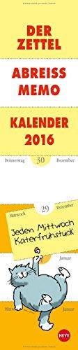 9783840134814: Zettel-Abreiß-Memo-Kalender 2016