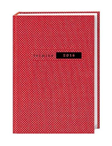 9783840134951: Terminer A5, Struktur rot 2016
