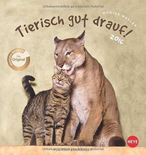 9783840136146: Tierisch gut drauf Postkartenkalender 2016