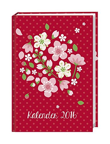 9783840137150: Floral 17-Monats-Kalenderbuch A5 2016: 17 Monate. Von August 2015 bis Dezember 2016.