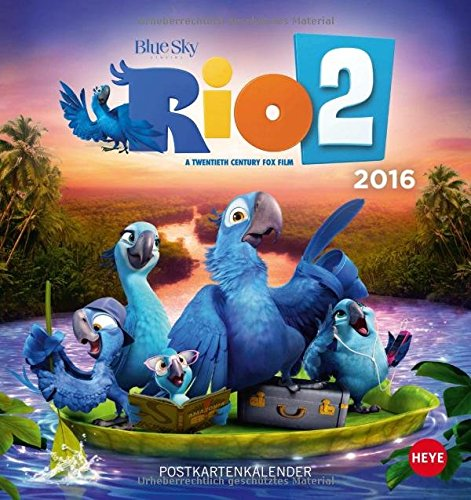 9783840138003: RIO 2 Postkartenkalender 2016