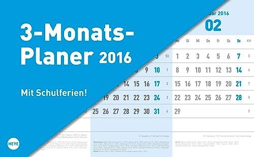 9783840138447: 3-Monats-Tischaufsteller blau 2016