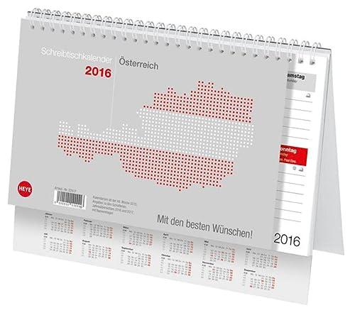 9783840139529: Schreibtischkalender Österreich klein 2016