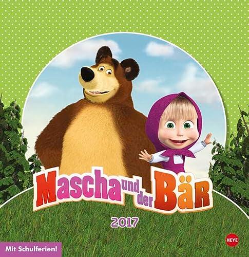 9783840142338: Mascha und der Bär Posterkalender 2017 quadratisch