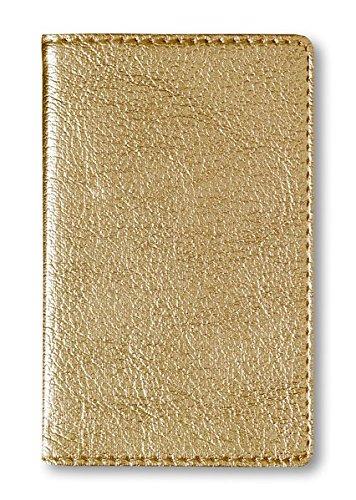 Adressbuch Mini Glamour Gold: hochwertige, glänzende Lederoptik, gold, 8 x 11,5 cm: Alpha ...