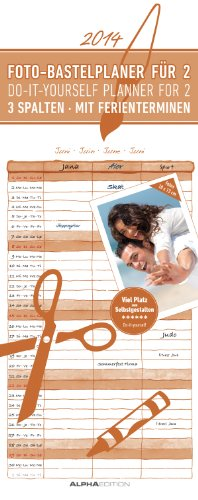 9783840748042: Foto-Bastelplaner 2014 für 2 mit 3 Spalten: Do it yourself-planner for 2