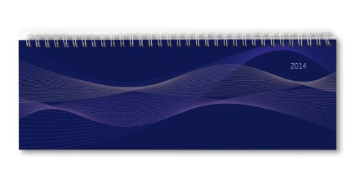 9783840749889: Tisch-Querkalender 2014 PP blau