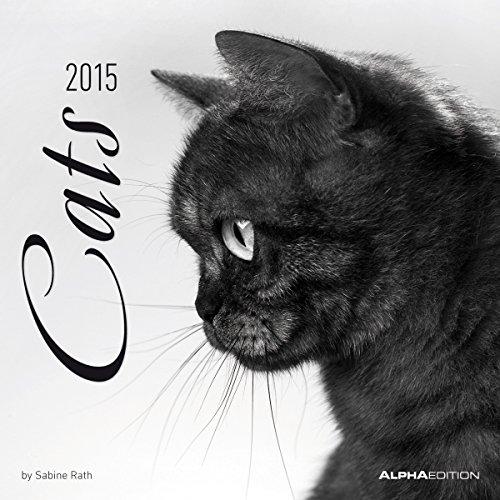 9783840751134: Cats 2015 - Katzen - Broschürenkalender (30 x 60 geöffnet) - schwarz/weiß - by Sabine Rath