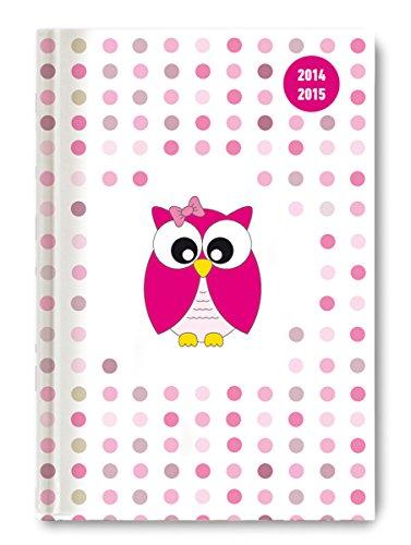 9783840756436: Collegetimer A5 Pink Owl 2014/2015