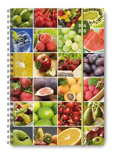 9783840756955: Collegetimer A5 Fruits 2014/2015 mit Ringbindung