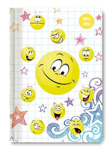 9783840757396: Collegetimer Pocket Emoticons 2014/2015 - Schülerkalender A6 - Day By Day - 352 Seiten