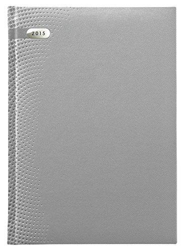 9783840757419: Buchkalender Paris silber 2015-368 Seiten - 1 Tag 1 Seite - Blue Line Agenda - Bürokalender/Buchkalender A5