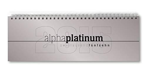 9783840759888: Tisch-Querkalender 2015 alpha platinum