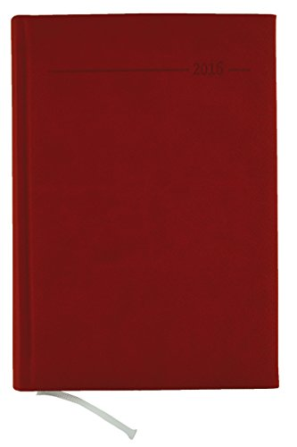 9783840760402: Buchkalender Canvas rot 2016 - Bürokalender A5 / Cheftimer A5 - 1 Tag 1 Seite - 352 Seiten